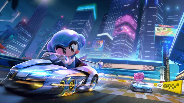 在《跑跑卡丁车官方竞速版》中与小伙伴们欢乐飙车