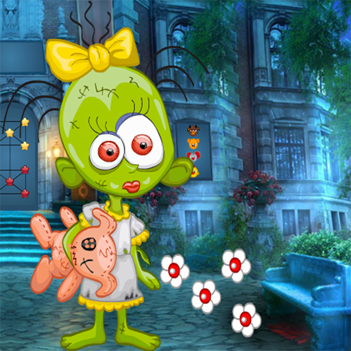 Green Zombie Girl Best Escape Rescue Game - 283