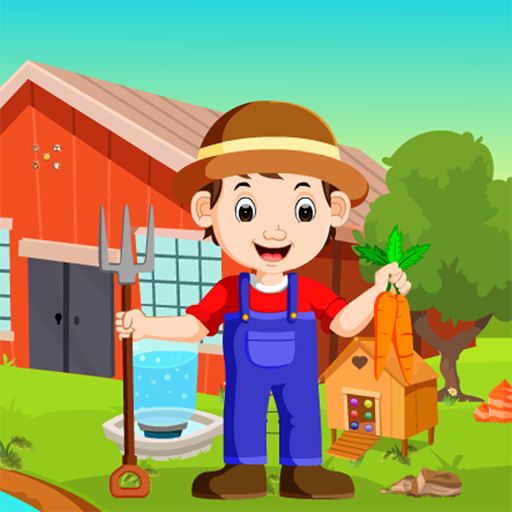 Cartoon Young Farmer Kavi Escape Game-310