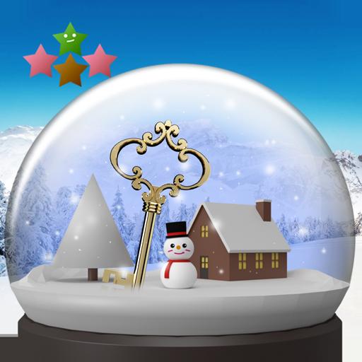 逃脱游戏 : 雪球体和雪景