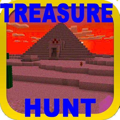 Treasure Hunt (Pyramid) map for MCPE