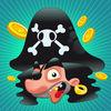 儿童游戏2-5岁左右海盗:游戏和拼图的幼儿园,学前班或幼儿园与海盗,船长,鹦鹉,百宝箱,鳄鱼和船舶在海洋中!