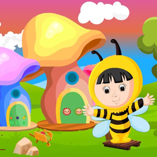Cute Bee Girl Rescue Kavi Game-378