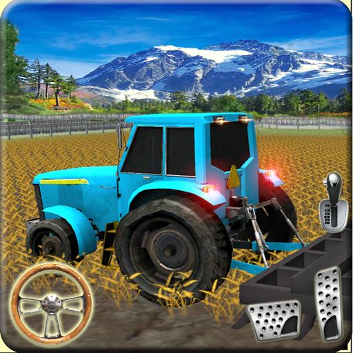 拖拉机 越野 驾驶 在 农场