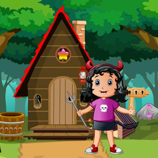 Little Girl Devil Rescue Kavi Game-395