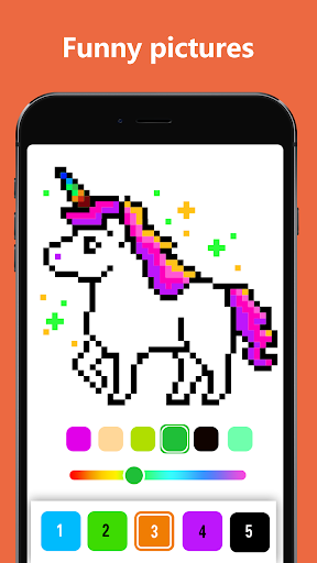 pixel art coloring book - draw by number