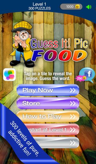 猜食物 - 免费的琐事字争抢问答游戏。 有乐趣猜测有什么食物照片,但不要放弃,解决了与家人和朋友的话帮忙!