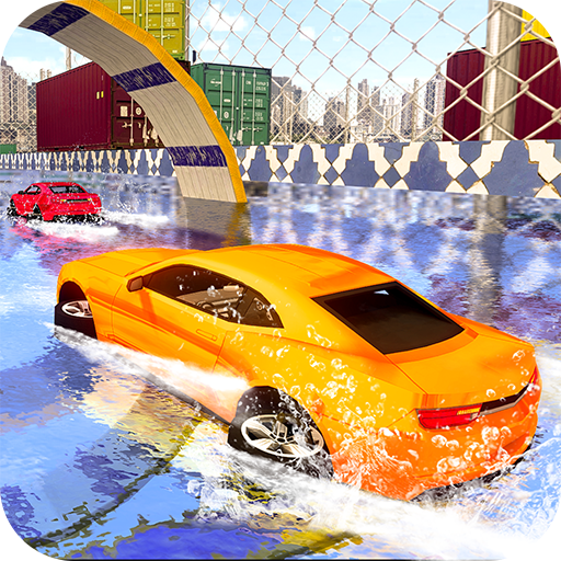 Real GT Stunt Water Park Car Surfing