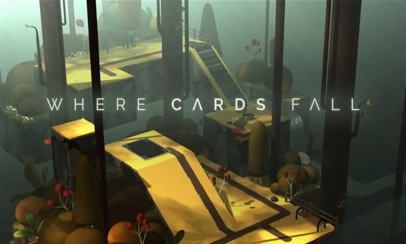 纸牌落在哪