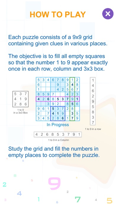 Sudoku Box Puzzle Game